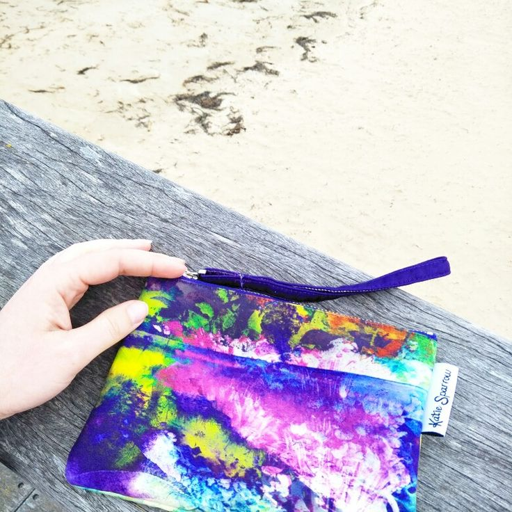 Katie Sparrow Australian made pouch. Loving this design, it's definitely one of my favorite artworks