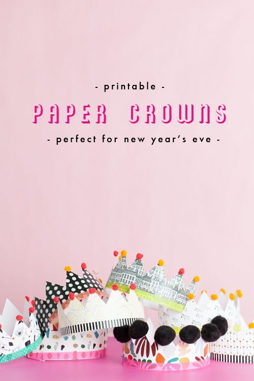 Paper crowns make New Year's Eve even better! Check out our printable paper crowns! All the details are on the blog