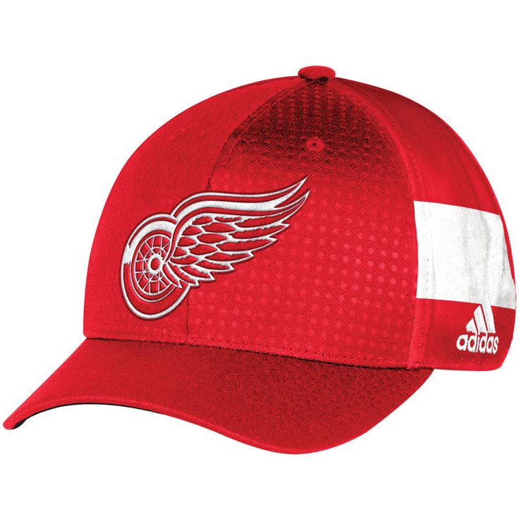Detroit Red Wings adidas 2017 Draft Structured Flex Hat - Red