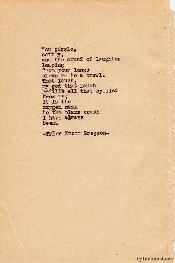 Typewriter Series #206 by Tyler Knott Gregson