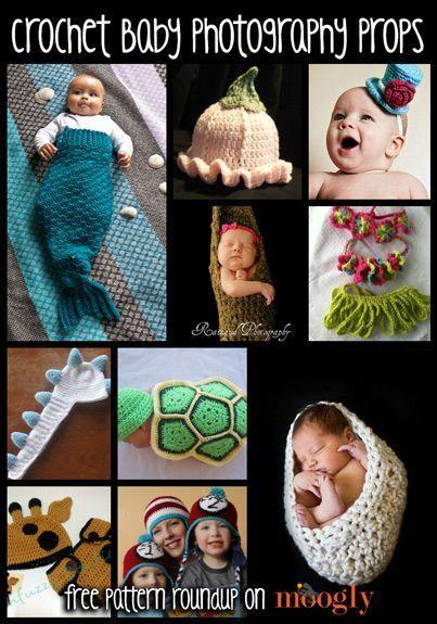 10 Free Baby Crochet Photo Prop Patterns!: