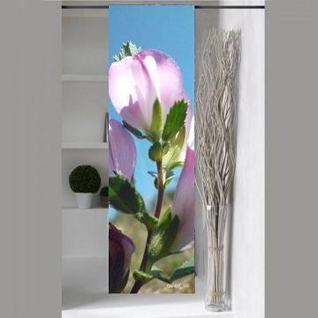 panneau japonais fleuri rose