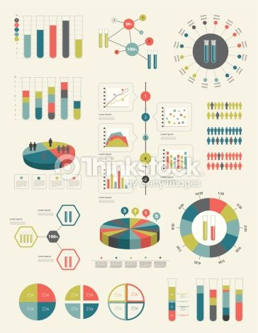Flat Infographic Collection Of Charts Graphs Speech Bubbles Schemes Diagrams…