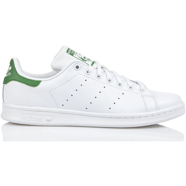 ADIDAS WHITE STAN SMITH LEATHER TRAINERS - MEN Eshop | Place des... (380 RON) ❤ liked on Polyvore featuring men's fashion, men's shoes, men's sneakers, mens leather shoes, mens white shoes, mens shoes, adidas mens sneakers and mens leather sneakers