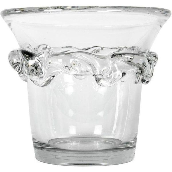 Vintage France Daum Crystal Ice Bucket (£2,695) ❤ liked on Polyvore featuring home, kitchen & dining, bar tools, ice buckets, vintage bar tools, vintage champagne bucket, crystal wine bucket, vintage crystal ice bucket and daum