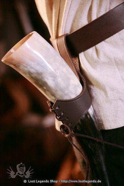 Trinkhorn Ledergürtelhalter