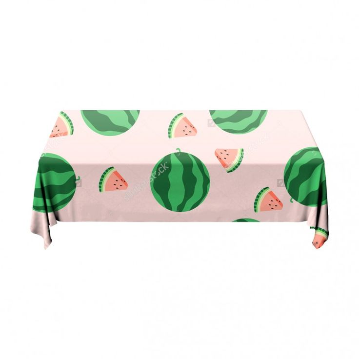 Tafelkleed Stukje watermeloen | Fleur je keuken op met dit weerbestendige tafelkleed bestaande uit geweven linnen met PVC.   #tafelkleed #keukentextiel #keuken #kleed #pvc #print #opdruk #tafel #weerbestendig #watermeloen #meloen #roze #groen #patroon #fruit