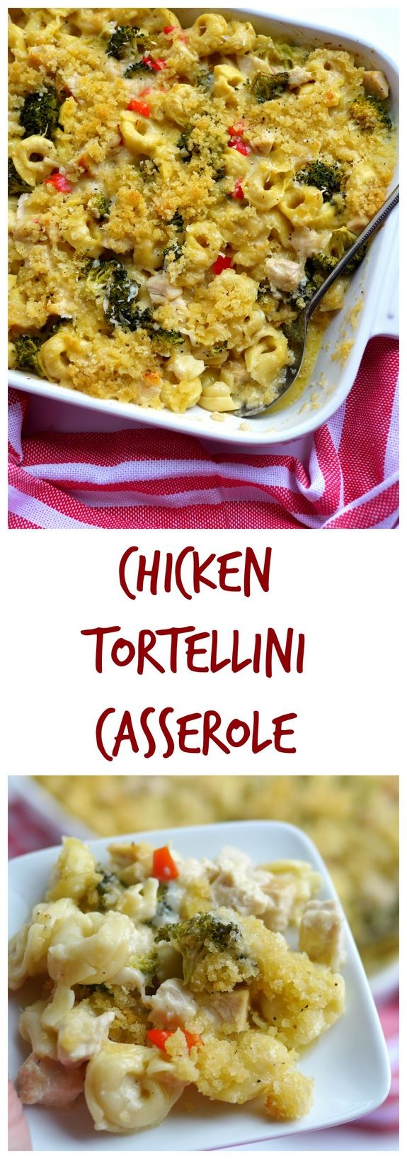 Chicken Tortellini Casserole from NoblePig.com.