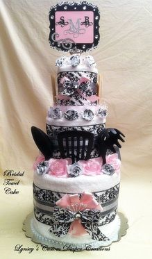 Bridal Shower Towel cake
