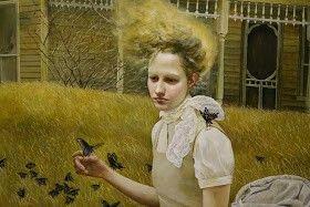 Escenas rurales, las novias tristes, extrañas hermanas, los cuervos, el fuego, las supersticiones y las fuerzas sobrenaturales. Estos son los que Andrea Kowch captura en sus pinturas bellas, misteriosas, que se muestra todo en los Estados Unidos y Canadá.
