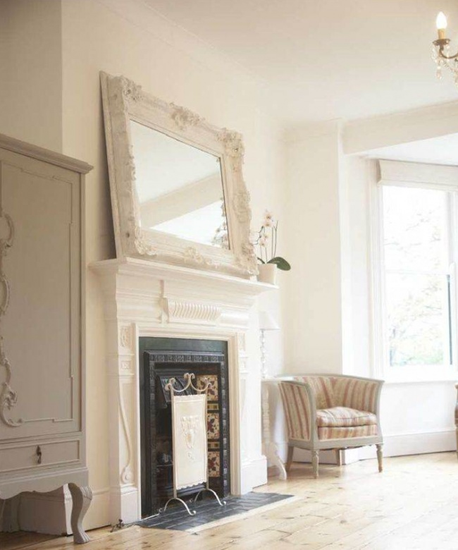 Fire place mirror