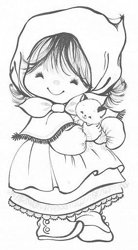 nena con gatito
