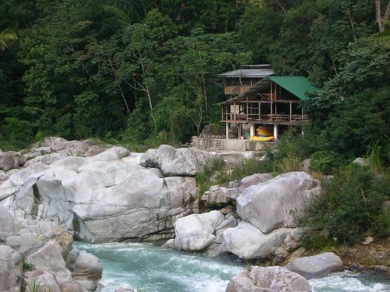 Jungle River Lodge in La Ceiba, Honduras. This is the place we stayed and received the white water rafting tour! beautiful location at Pico Bonito!