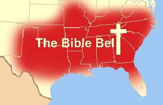 """America's so-called Bible Belt lives up to that nickname in the latest state-by-state Gallup poll of religious fervor in America.  Eight of the 10 most religious states are in the South, while nine of the 10 least religious states are in the Northeast or Northwest.  Midwestern states are about average in religiousness.  There's more about this HERE:  Gallup research has shown that these state differences appear to be part of a """"state culture"""" phenomenon...."""