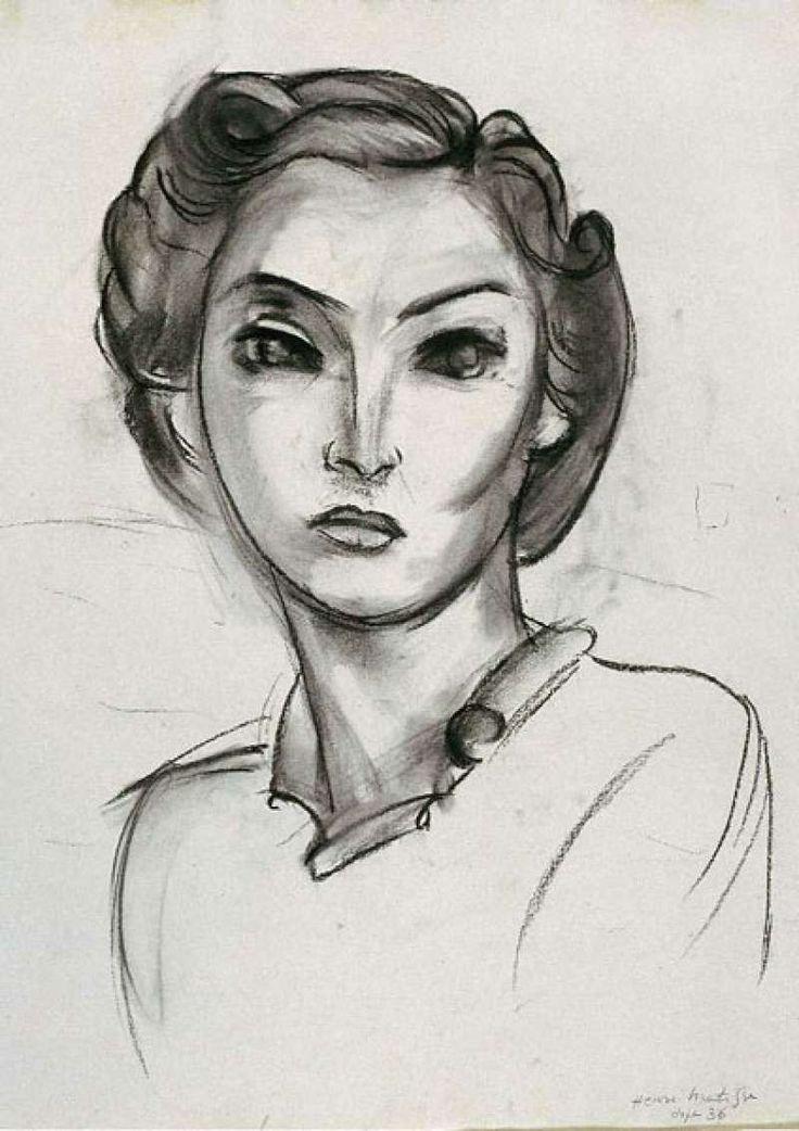 """ Tête de femme - Henri Matisse 1936 """