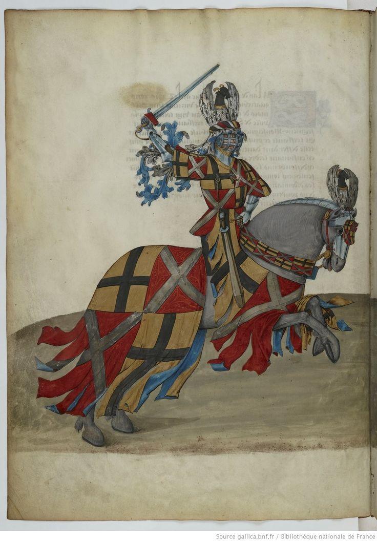 Traittié de la forme et devis comme on fait les tournoyz », par « RENE D'ANJOU    Date d'édition :  1401-1500   Français 2693   Folio Bv