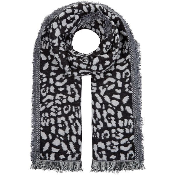 Accessorize Luxe Leopard Scarf (29 CAD) ❤ liked on Polyvore featuring accessories, scarves, leopard print scarves, black and white scarves, accessorize scarves, animal print scarves and leopard print shawl