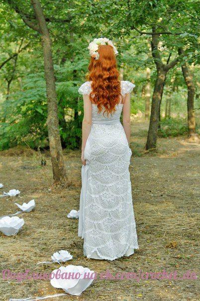 crochelinhasagulhas: Vestido de noiva em crochê                                                                                                                                                                                 Mais