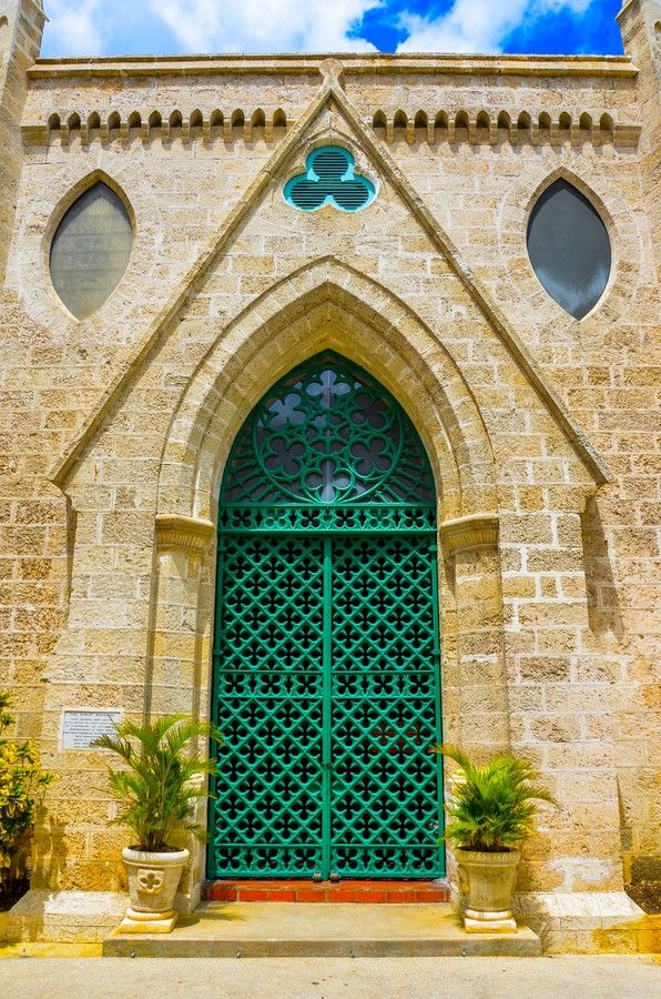 Green Iron Door - Parliament Buildings at the World Heritage site: The Historic City of Bridgetown and its Garrison, Barbados