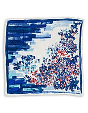 Garden Printed Silk Pocket Square