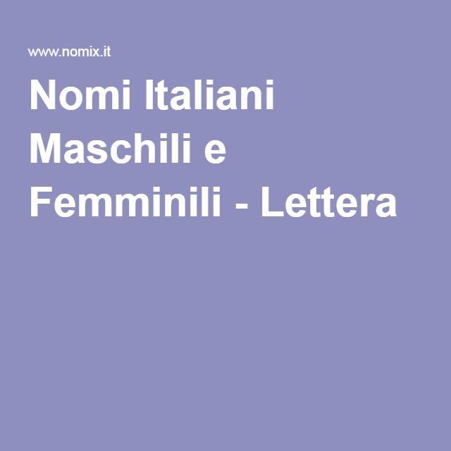 Nomi Italiani Maschili e Femminili - Lettera E