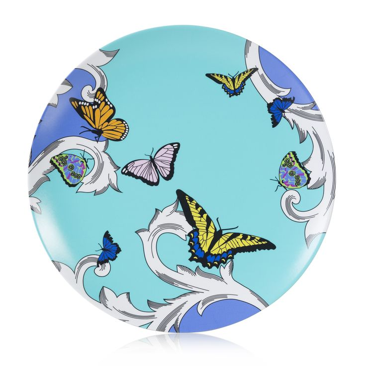 Brightly colored Butterflies in flight Dinner Plate made of durable break resistant Melamine that measures in diameter Non-toxic (BPA free) non-a  sc 1 st  Pinterest & 219 best melamine plates and platters images on Pinterest ...