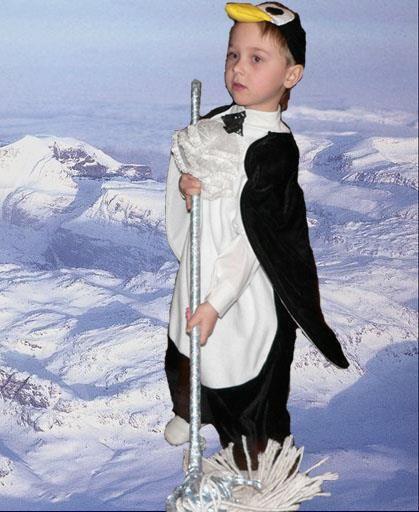 Новогодний костюм пингвина для мальчика с выкройкой