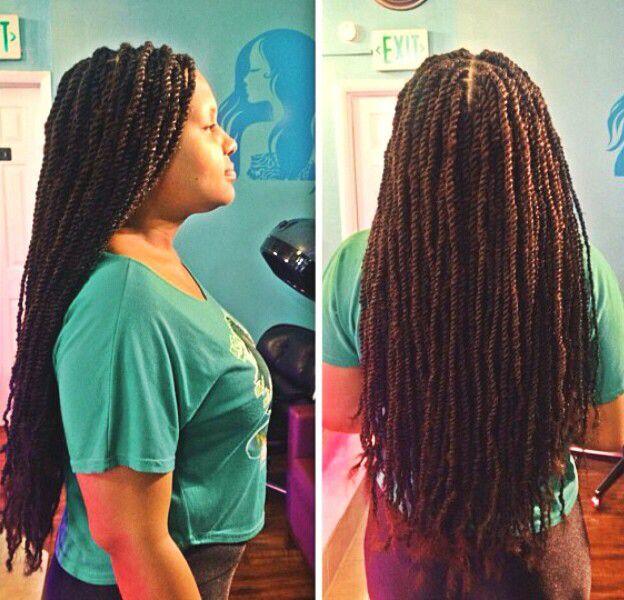 Long small Marley/Havana twists