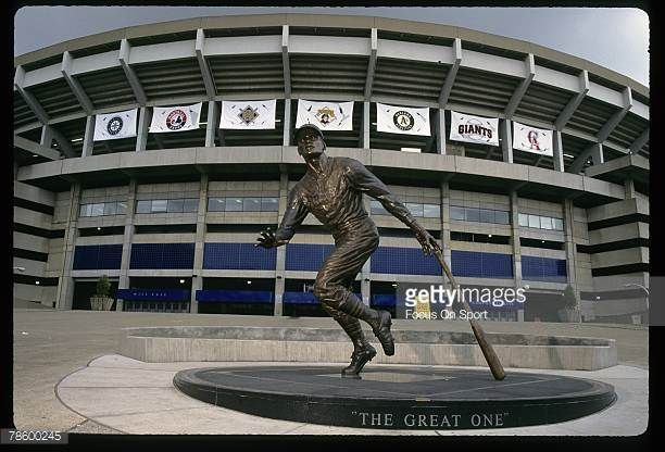General View of the Roberto Clemente statue at PNC Park in Pittsburgh Pennsylvania Clemente played for the Pirates from 195572