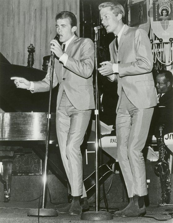 Jan and Dean -- the pioneers of the vocal surf sound - they hit before The Beach Boys did - they also were local 'hometown' area boys for me. Jan Berry (left) Dean Torrence (right)