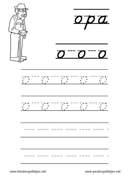 LETTER O | letters leren herkennen en schrijven, alfabet printbladen a t/m z