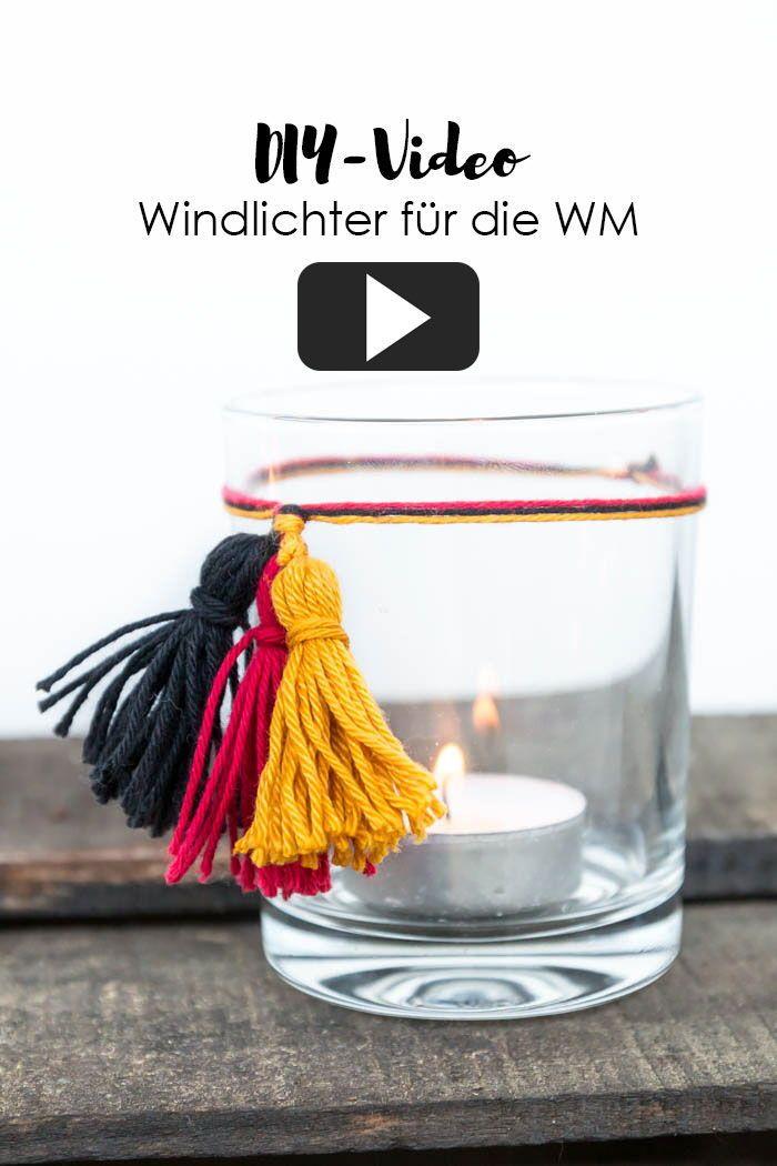 Diy Windlichter Als Deko Fur Deine Wm Party Mit Meiner Video