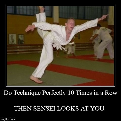 *then Sigung looks at you* but still this is so accurate. Even though I've never done a technique perfectly yet.