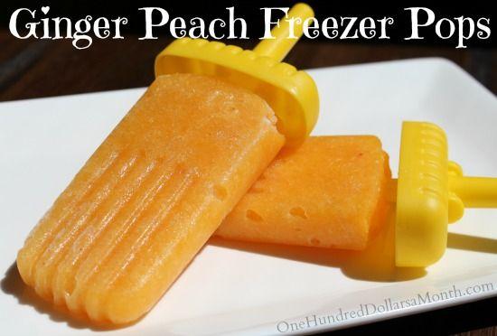 ... ice cream with fresh peach compote samoa popsicles fudge popsicles