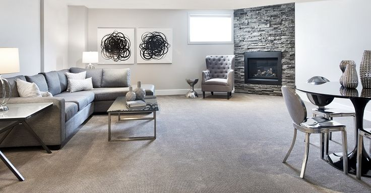 This is the included finished basement in the  Red Oak semi-detached model home at our Poole Creek community in Kanata/Stittsville.