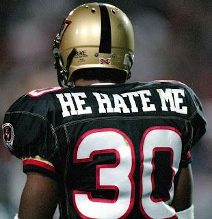 He really does. Remember the XFL?