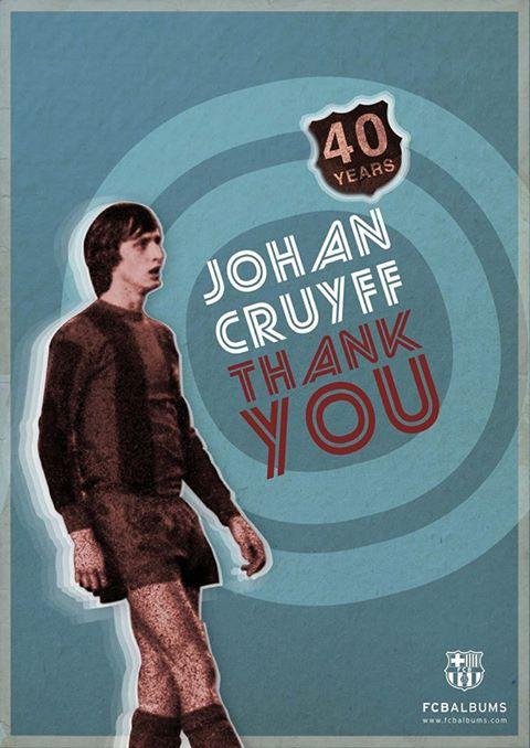 Thank you, Cruyff! 40 years ago Johan Cruyff played his first game as a FC Barcelona player.
