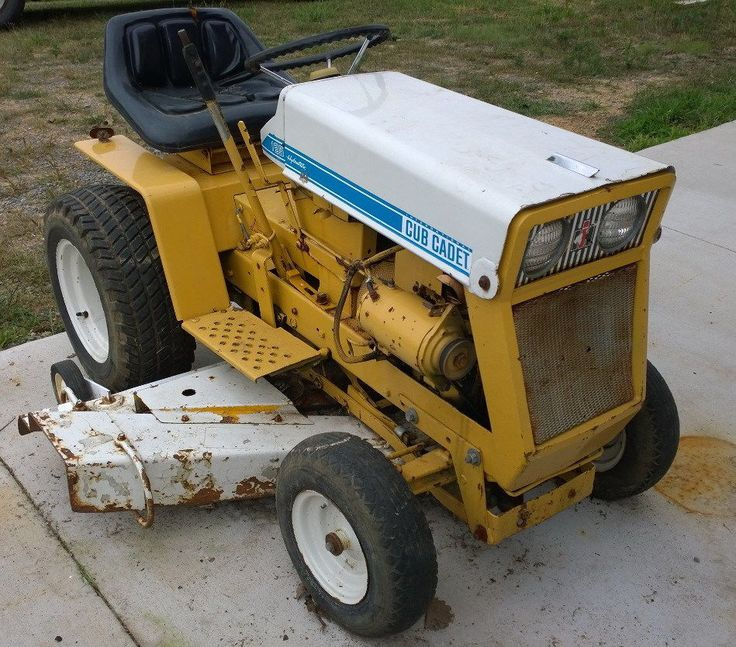 International Cub Cadet 125 Hydro Garden Tractor w Wheel Weights