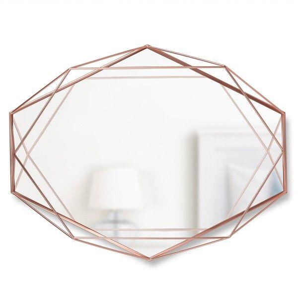 Umbra Prisma Mirror - Copper - wire frame geometric mirror