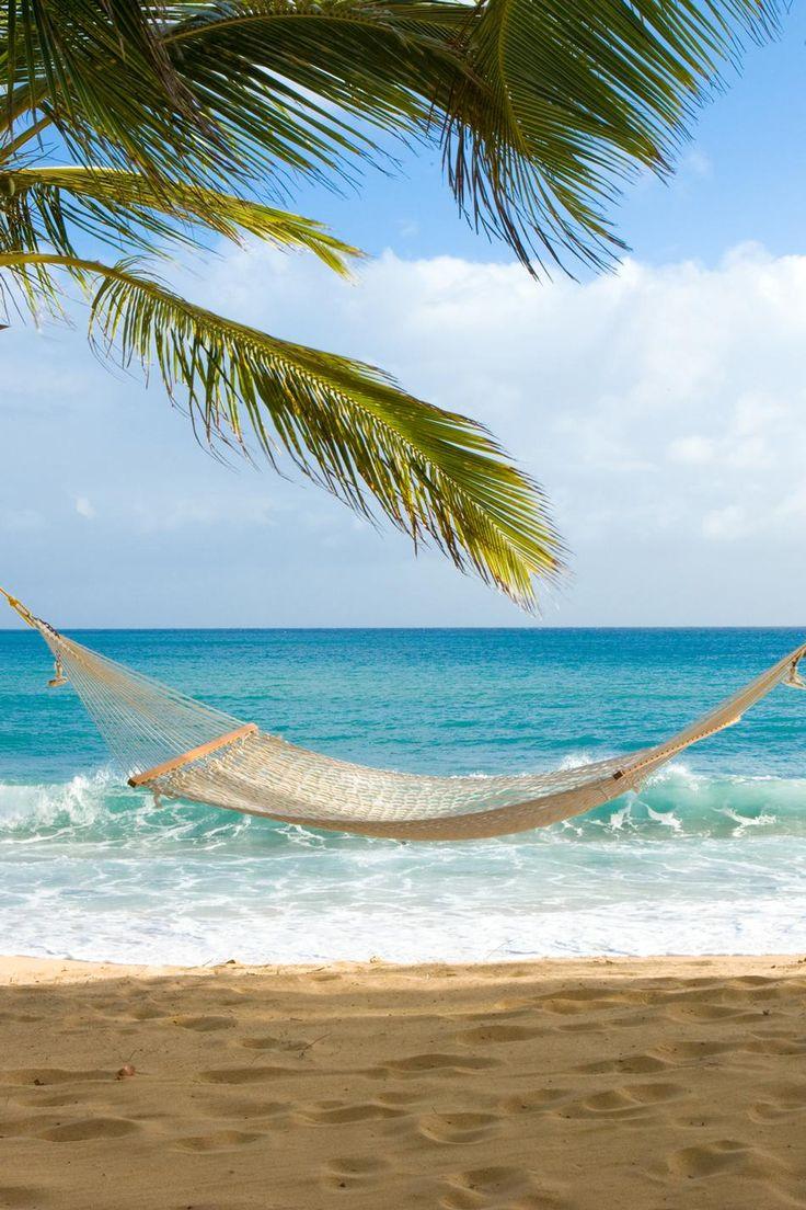 Hammocks on the beach - Hammock Over A Caribbean Beach Curtain Bluff My Ultimate Bliss