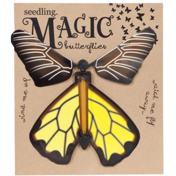 Seedling - Magic Butterflies - Love how these can be used as creative bookmarks. Fire them up with an elastic band and watch them fly from the pages #EntropyWishList #PintoWin