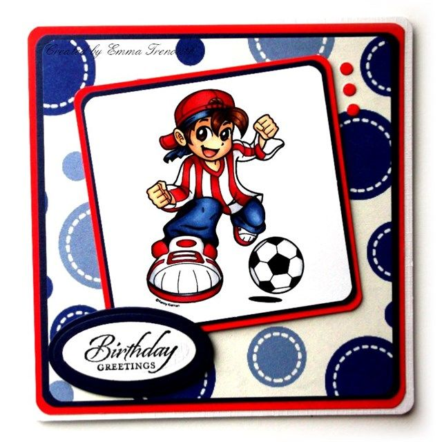 Kenny K hobby house football image, boys birthday card