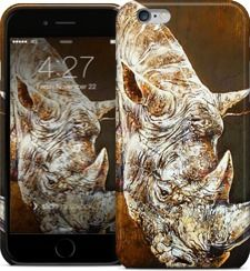 White Rhino by Brian Rolfe Art - iPhone Cases & Skins - $35.00