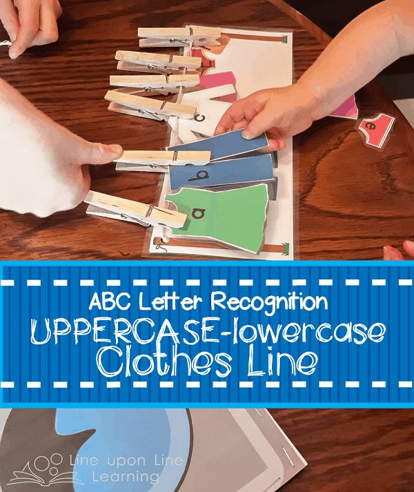 ABC Clothesline....practice matching uppercase and lowercase letters with a fun hands-on activity. Perfect fine motor skills practice too! Free download to site VIPs.
