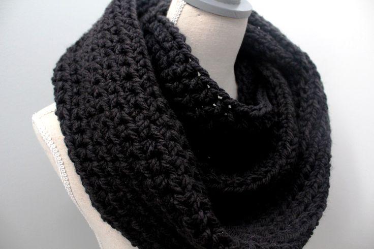 black infinity scarf,winter scarf black,black scarf,black wool scarf,black eternity scarf,chunky scarf black,black circle scarf,woolen scarf by karliboutique on Etsy https://www.etsy.com/listing/125049233/black-infinity-scarfwinter-scarf