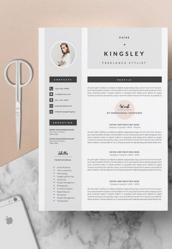 4 page Resume CV Template