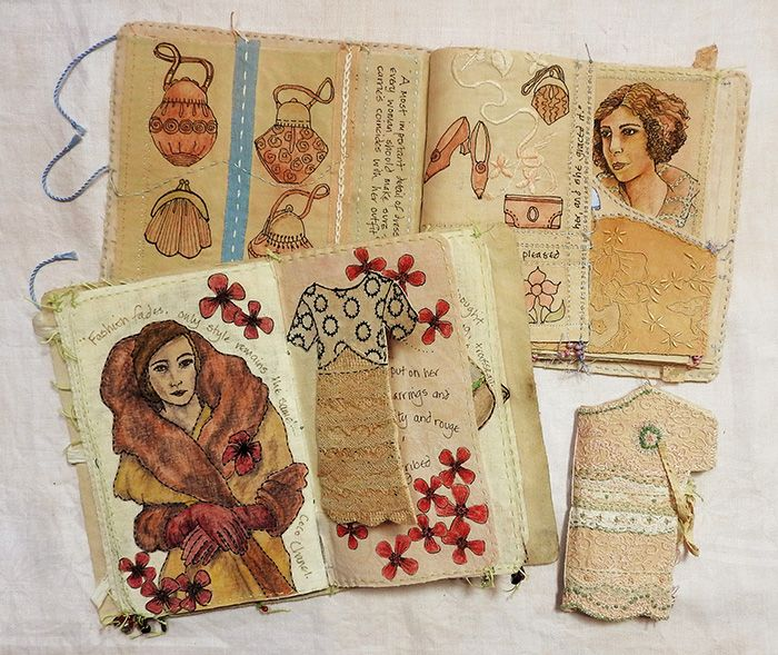 1920's themed fabric books (click to enlarge)