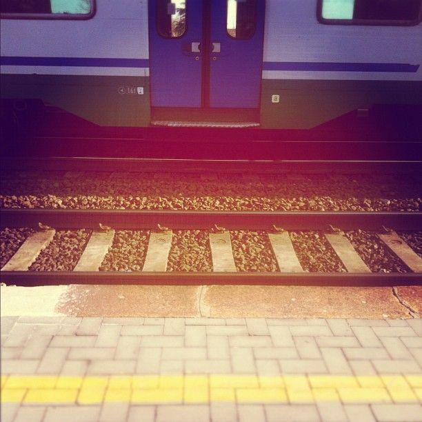 """[La """"pezza da treno"""" VS il sole di primavera] Io sono un po' misantropa e la stazione di mattina è una zona pericolosissima: vecchi compagni delle elementari e cugini degli amici in agguato per attaccarti la celeberrima """"pezza da treno"""". So che sapete di cosa sto parlando. Incontrare una persona conosciuta (non un amico, chiaro) mentre si sta salendo in treno è il male assoluto. La situazione ti costringe a far conversazione e il buon costume ti suggerisce di sederti vicino al maledetto."""