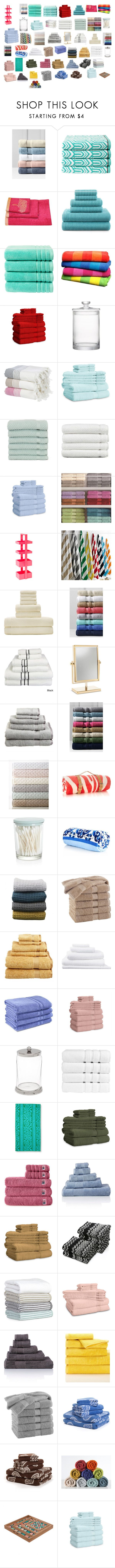 """banyo havluları"" by mervenara on Polyvore featuring interior, interiors, interior design, ev, home decor, interior decorating, Lands' End, Christy, JCPenney Home ve ExceptionalSheets"
