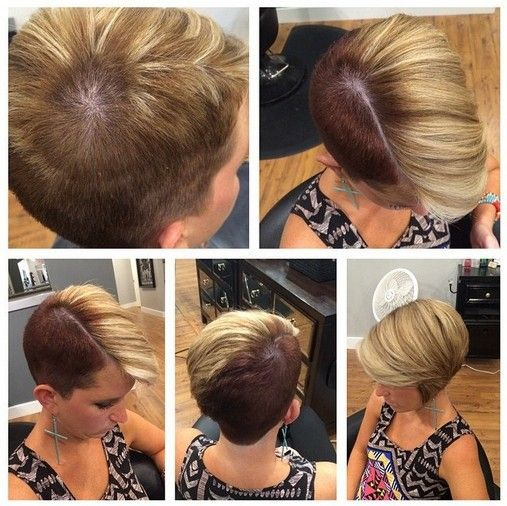 If you're torn between going ultra-short and having a sleek medium-short bob, have both! This super-stylish short haircut combines extreme asymmetry with contrasting colour to produce a look that proclaims your high-fashion credentials. And although it's a short hairstyle with lots of creative contrast – it's all done in very good taste. From a side-parting …